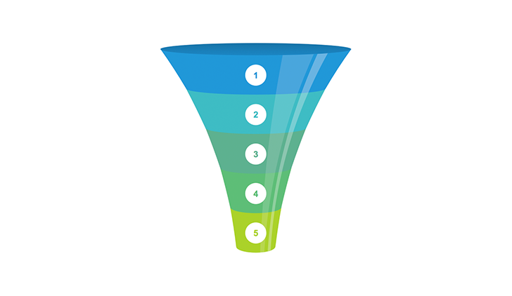 Funnel 5 step clipart