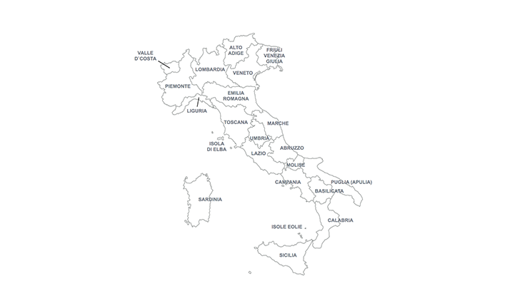 map Italy for Keynote
