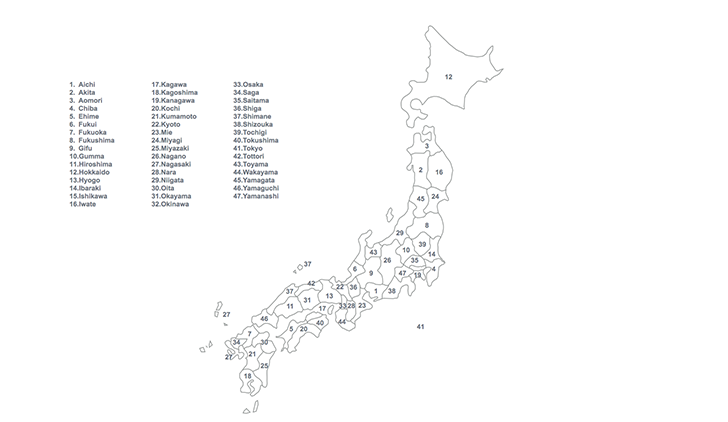 map of Japan for Keynote