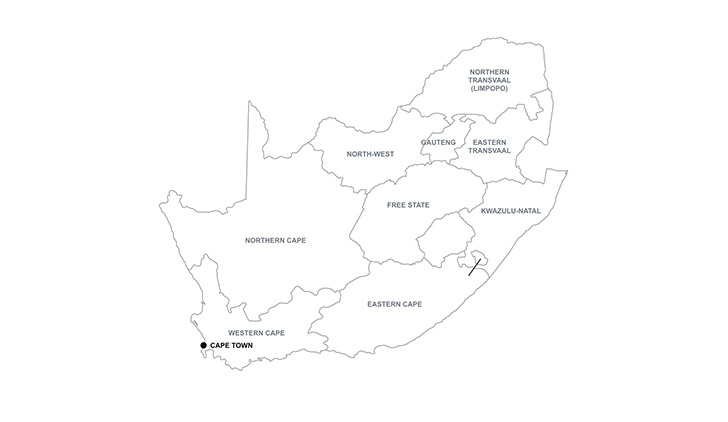 maps South Africa key