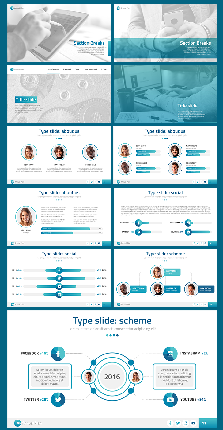 Annual Plan    PowerPoint template  Download Now