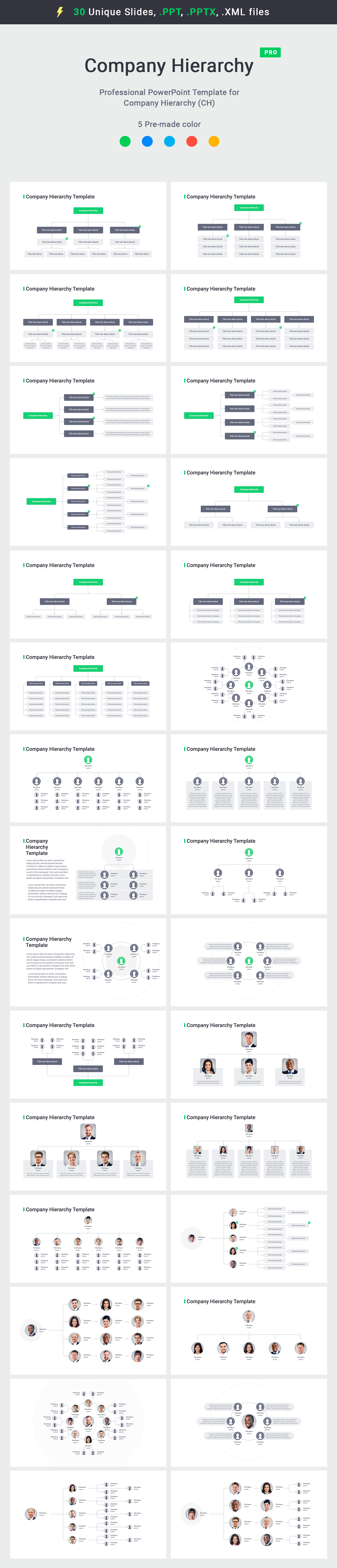 organizational charts template for powerpoint