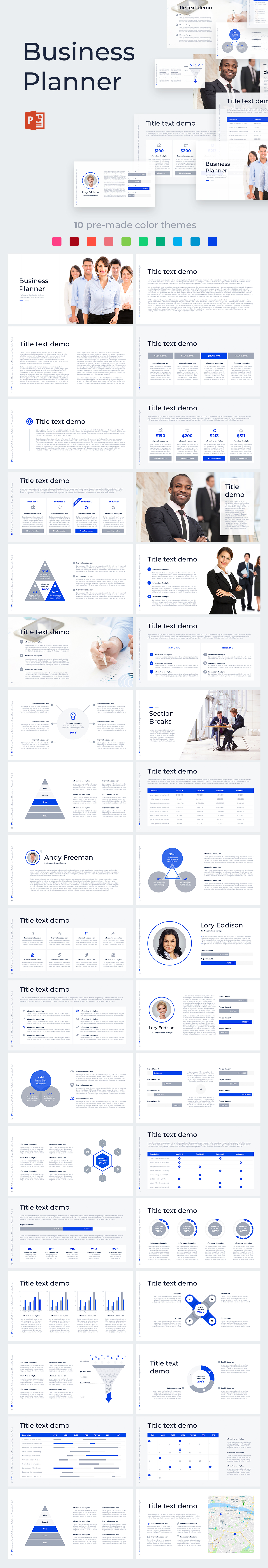 business planner pro powerpoint template