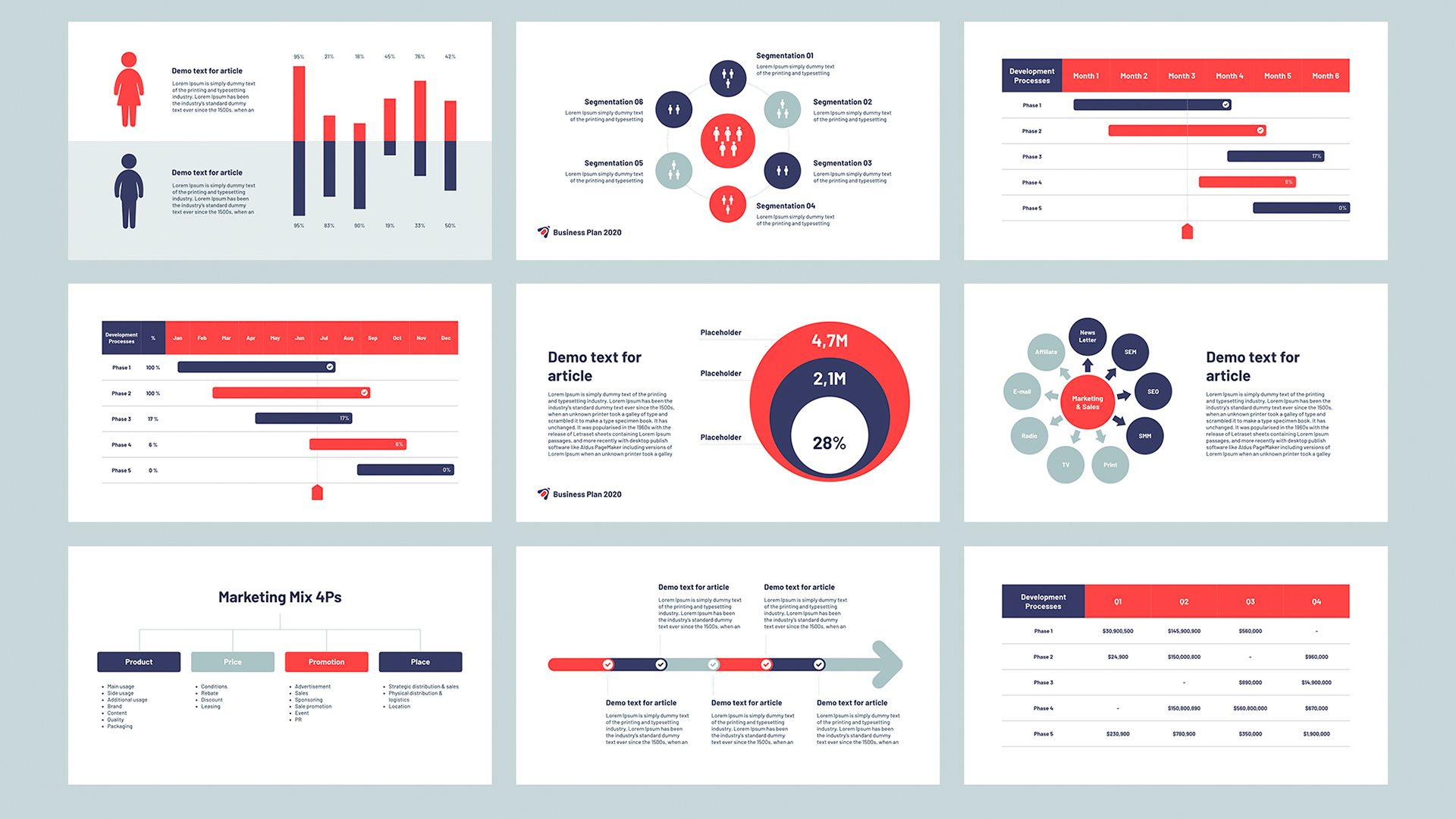 Business plan template PowerPoint 2020