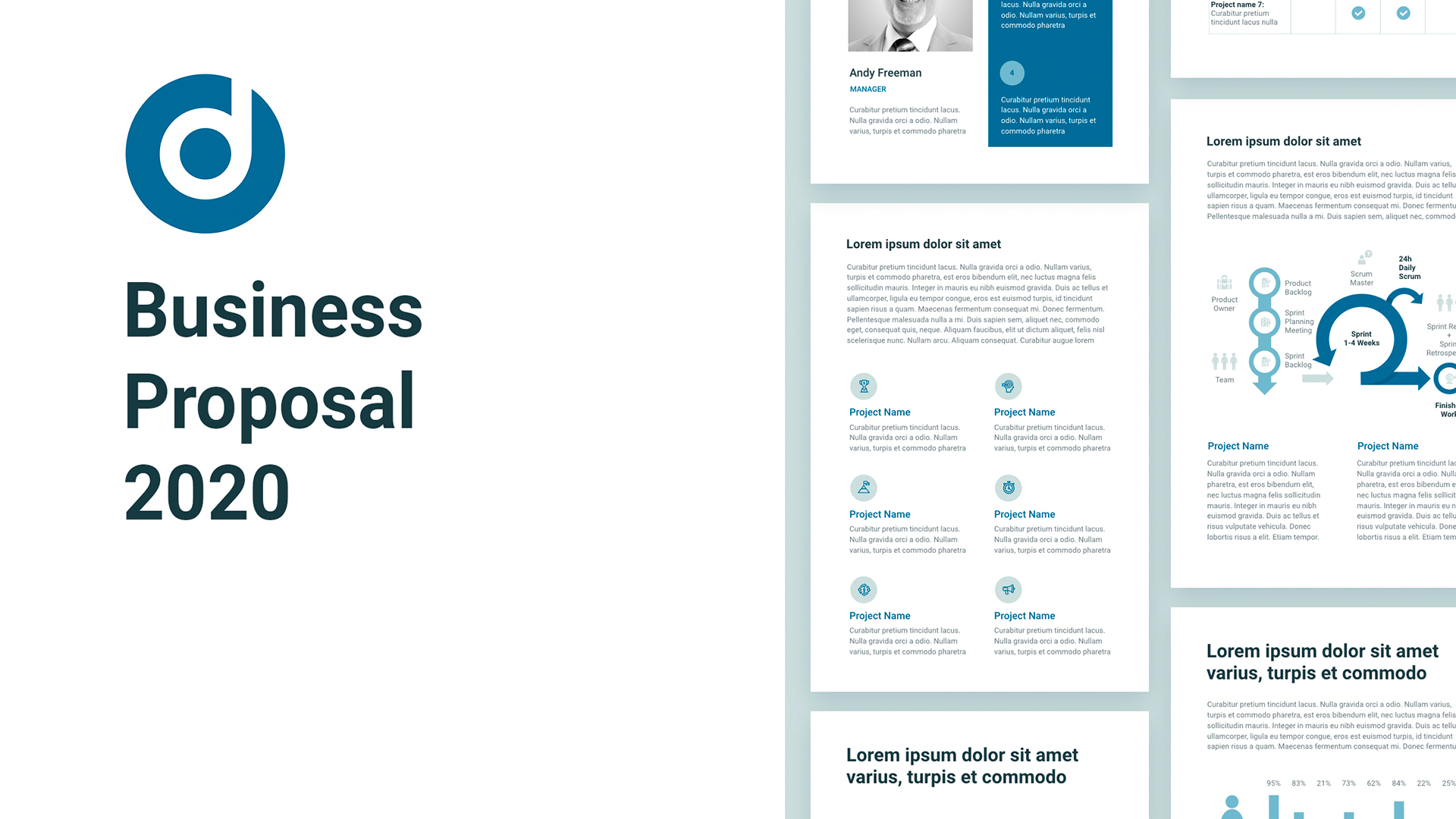 Business proposal A4 template PowerPoint