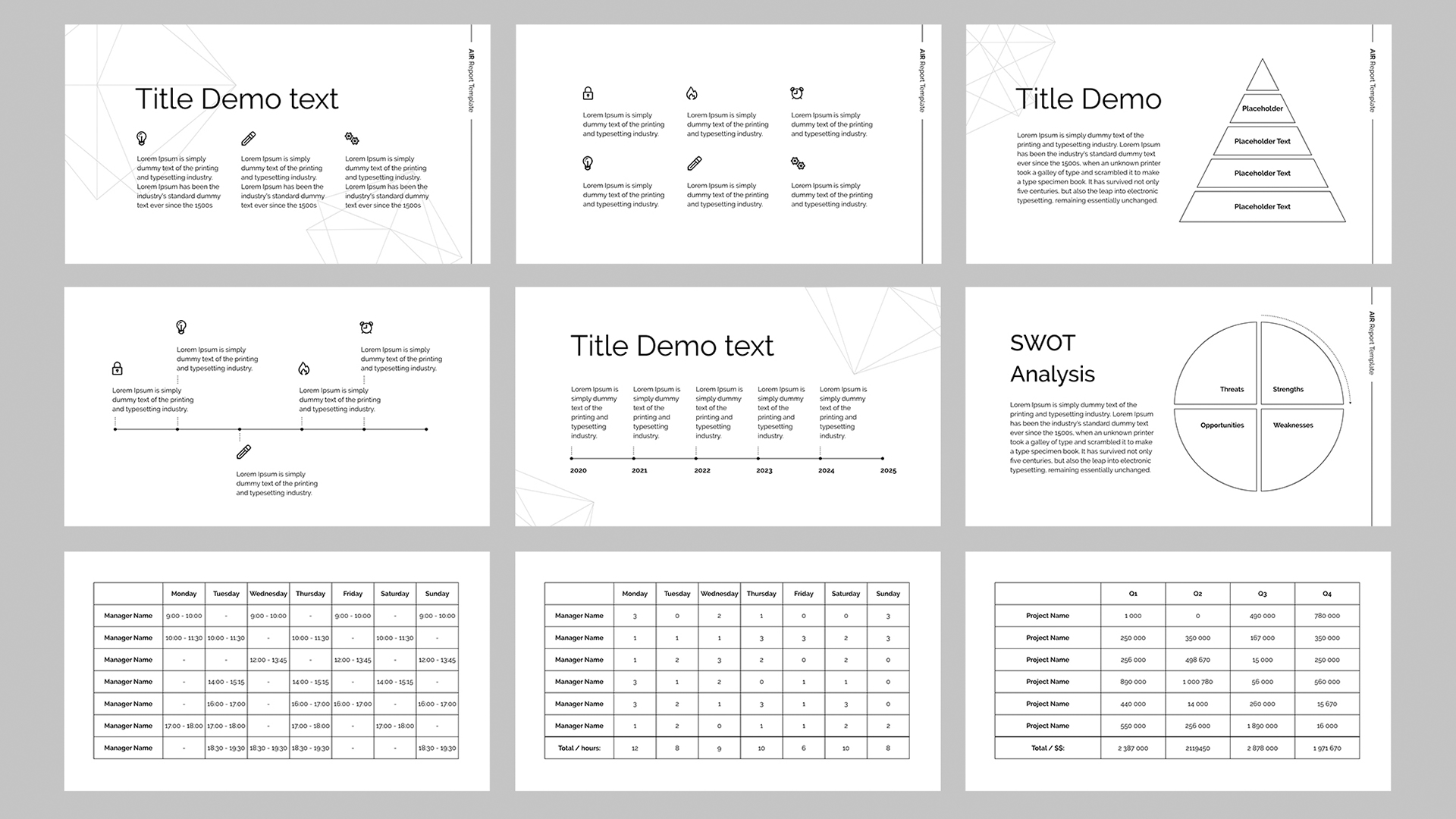 Air Powerpoint report template