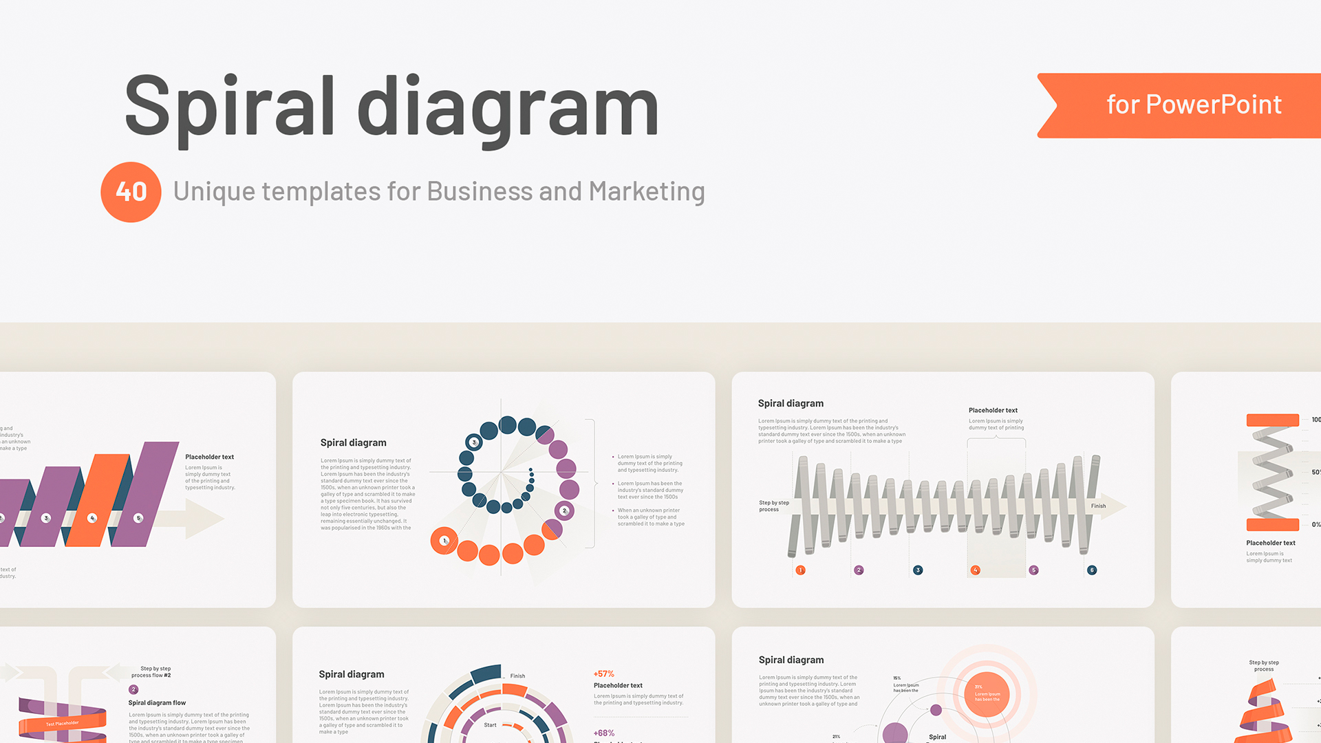 Powerpoint Spiral Diagram templates
