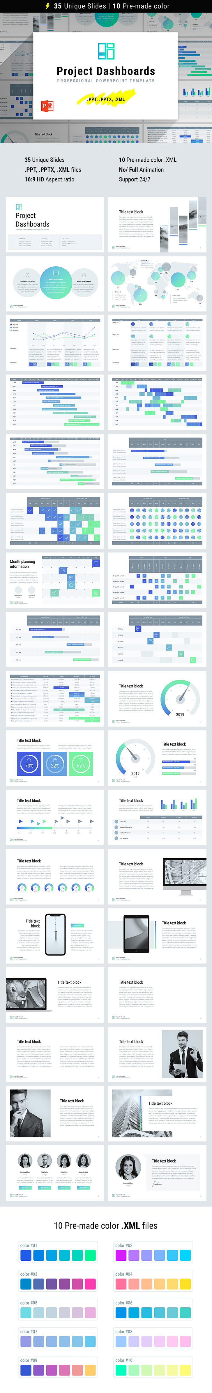 project dashboard templates powerpoint