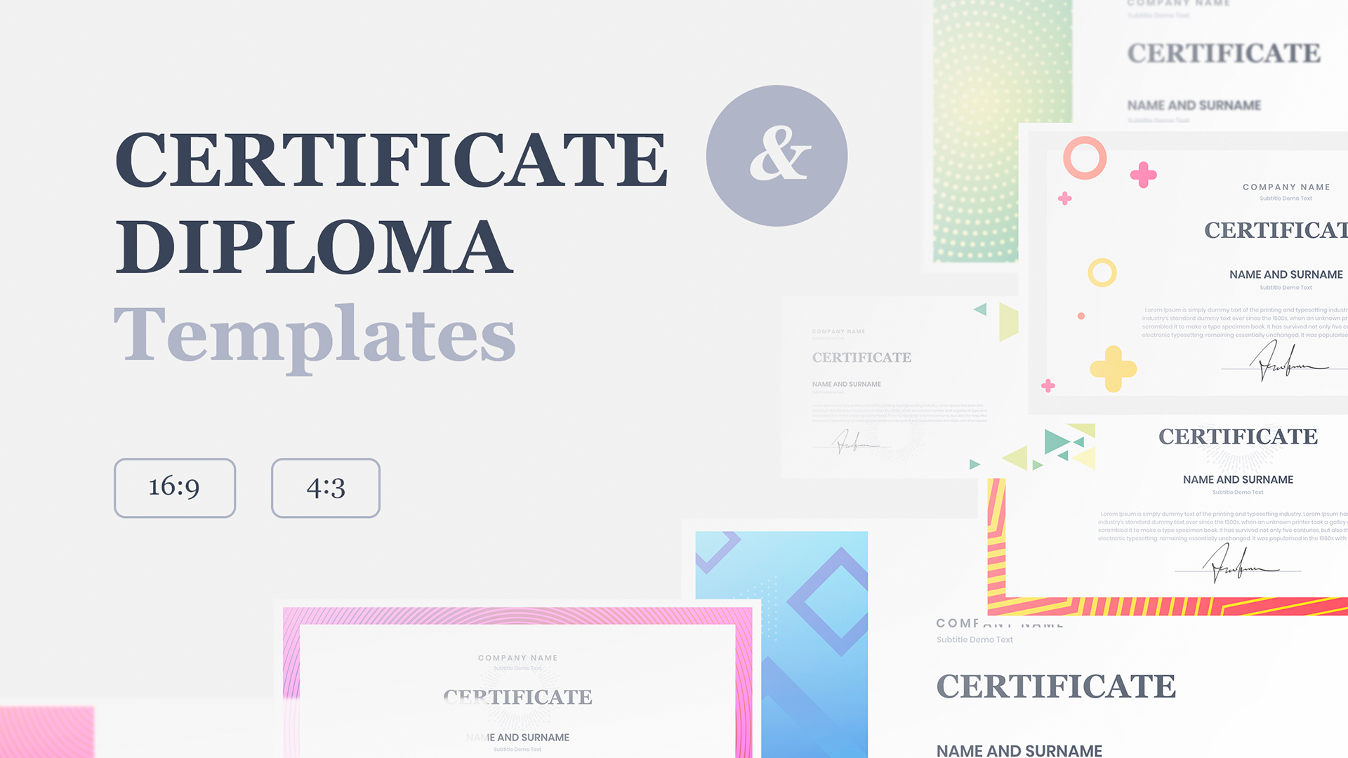 Google Slide Certificate template