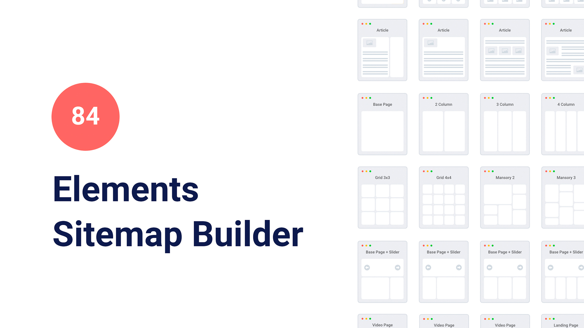 Sitemap template for Google Slides
