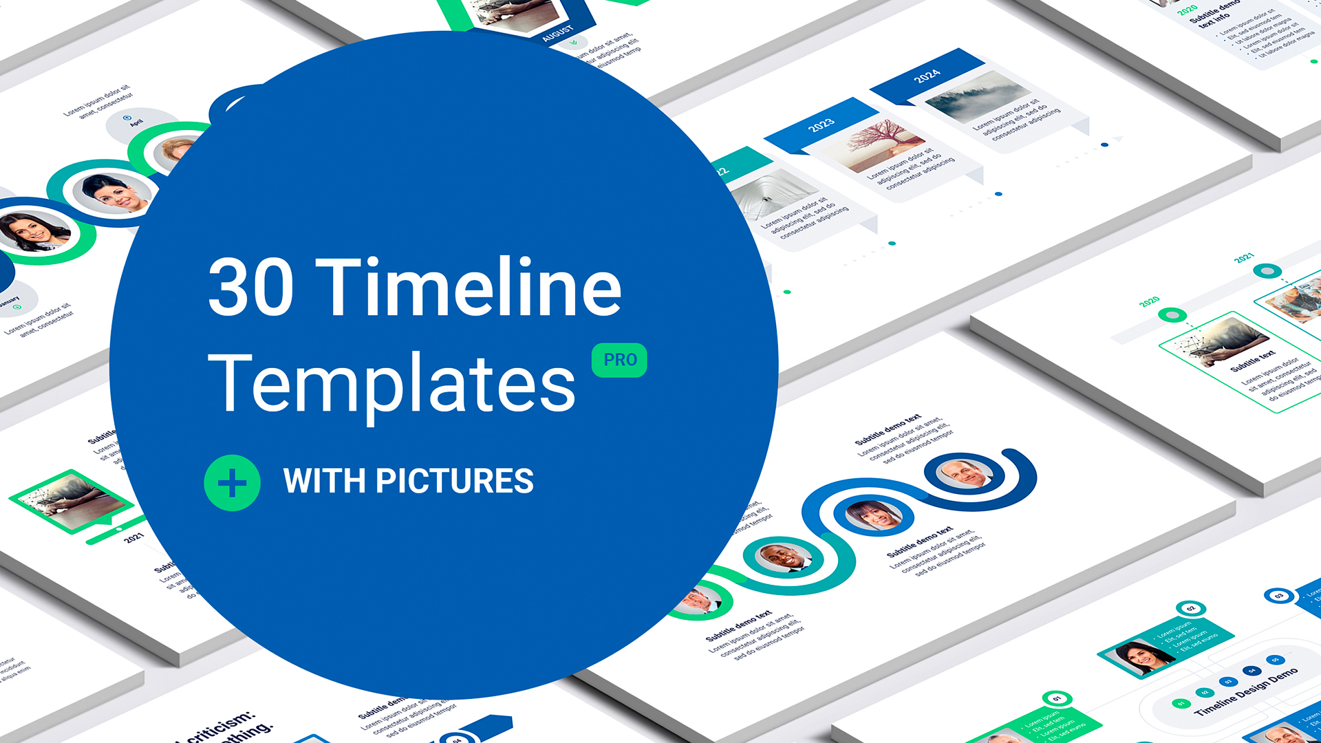Timeline template with pictures Google slides