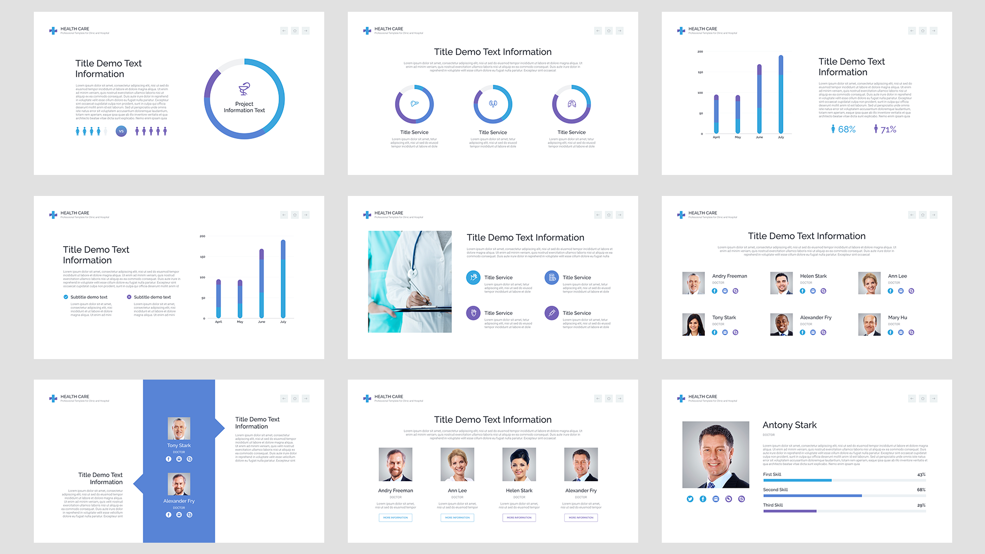 Health Care Business plan template for Keynote