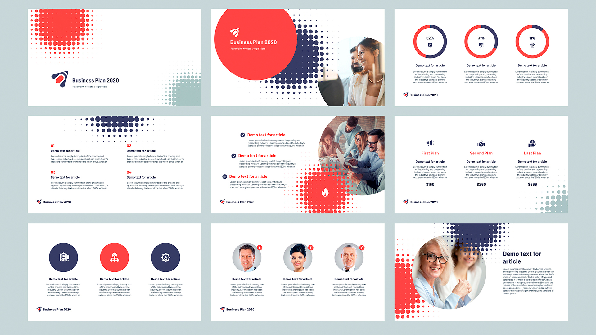 Business plan presentation template Keynote 2020