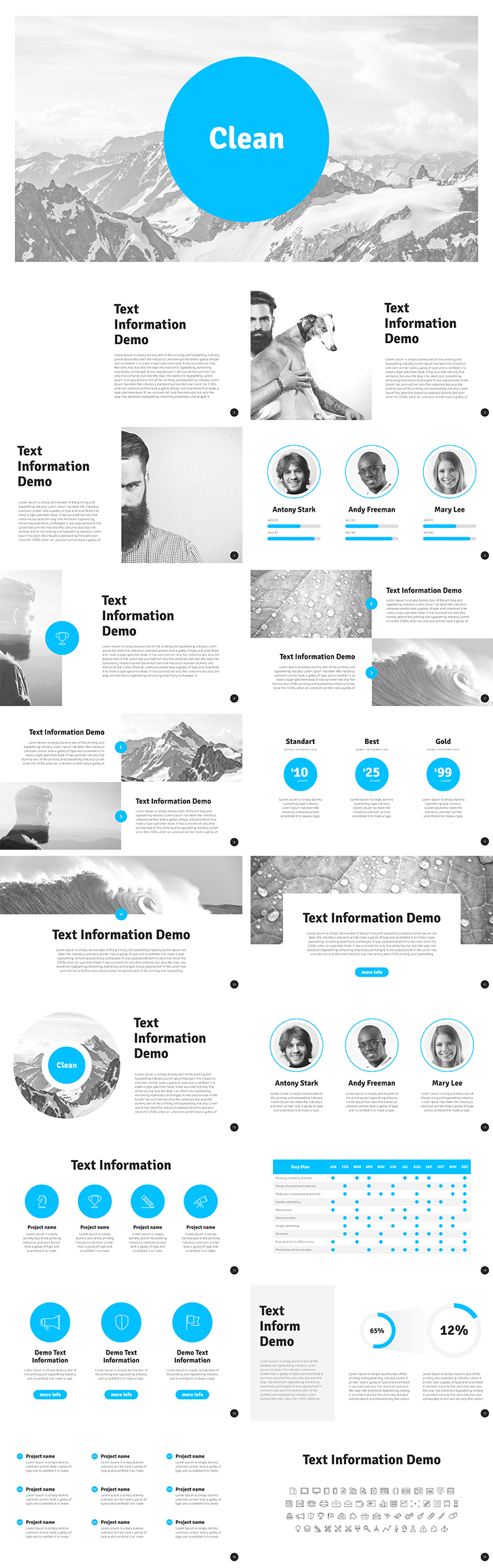 Clean Free Powerpoint Template Download Free