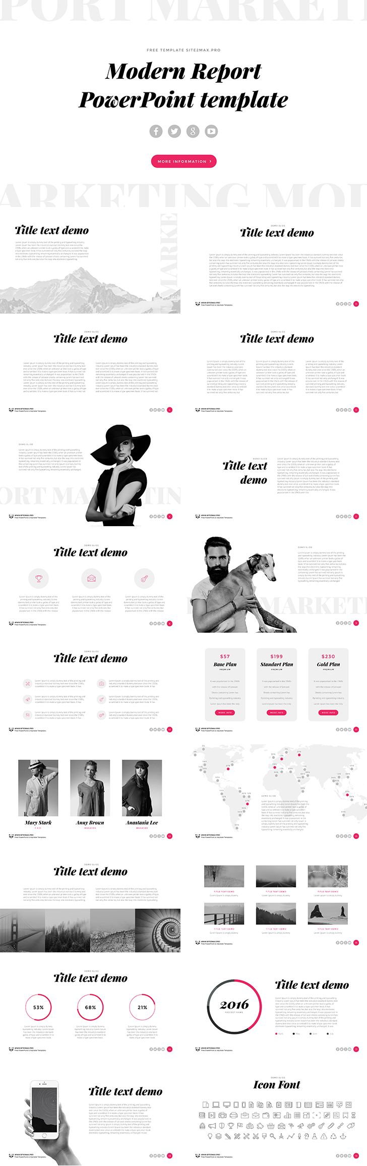 Powerpoint Template Black And White Powerpoint Template