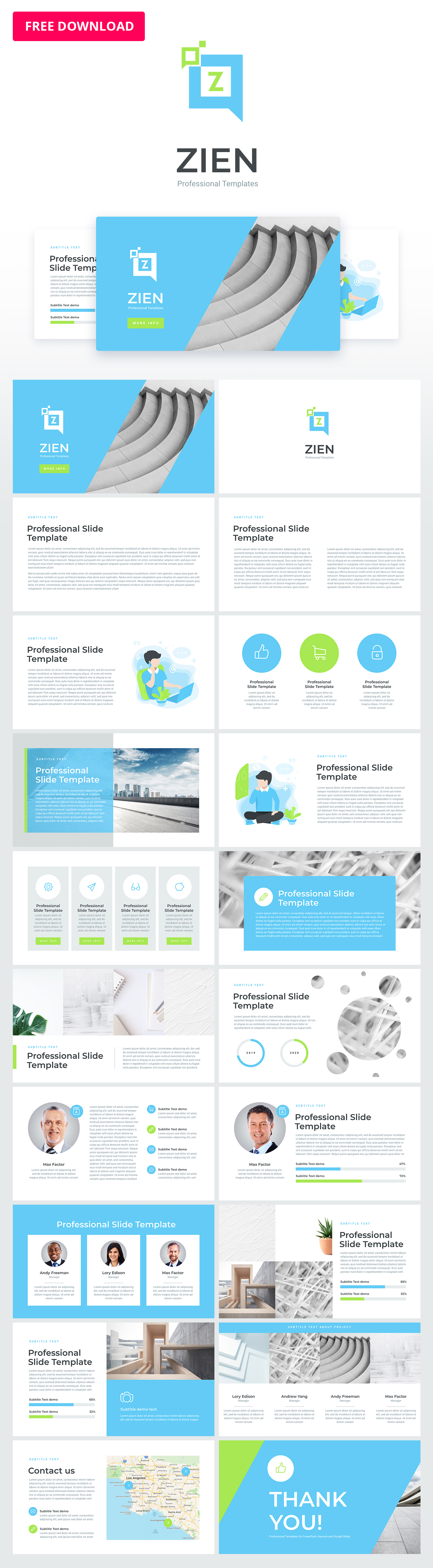 zien animated powerpoint template